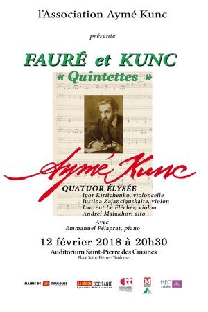 Faure kunc quintettes auditorium saint pierre des - Saint pierre des cuisines toulouse programme ...