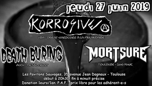 concert metal punk avec KORROSIVE + DEATH BURING + MORTSURE