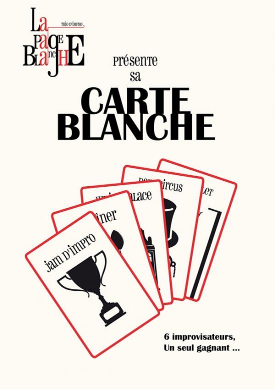 LA PAGE BLANCHE CARTE BLANCHE - \