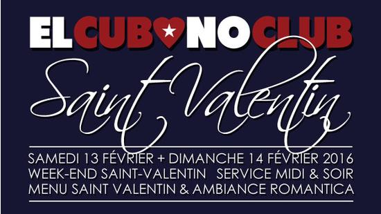 el cubano club week end saint valentin 2016 en amor a dos el cubano club toulouse. Black Bedroom Furniture Sets. Home Design Ideas