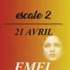 affiche EMEL MATHLOUTHI + THE ROACH - ESCALE 2 - TOUCOULEURS
