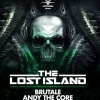 affiche THE LOST ISLAND : FANT4STIK, BRUTAL - N VITRAL, ANDY THE CORE, WIPEOUT
