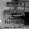 affiche IRON + MALA ENTRANA + MUSCARIA + DEATH BURING