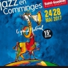 affiche JAZZ EN COMMINGES - PASS 4 SOIRS - MER 24,JEU 25, VEN 26,SAM 27 MAI