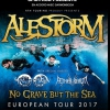 affiche ALESTORM + TROLDHAUGEN +AETHER REAL - NO GRAVE BUT THE SEA -EUROPEAN TOUR