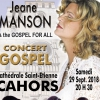 affiche CONCERT GOSPEL JEANE MANSON - & THE GOSPEL FOR ALL