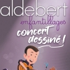 affiche ALDEBERT - ENFANTILLAGES - CONCERT DESSINE